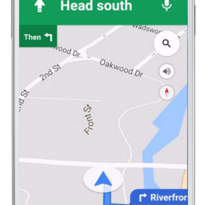 CRM Call Planner Mobile Directions Screen - Android